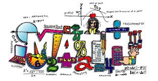 Mathematical equations and symbols put together to spell out MATH
