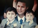 Mr. Villegas with two children