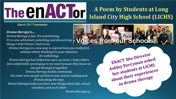 ENACT March 2017 Newsletter